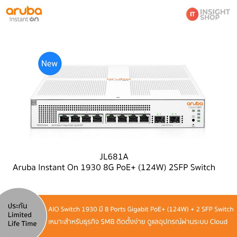 Aruba Instant On 1930 8G PoE+ (124W) 2SFP Switch (JL681A)