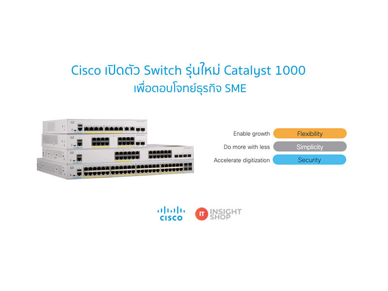 Cisco เปิดตัว Switch รุ่นใหม่ Catalyst 1000 เพื่อตอบโจทย์ธุรกิจ SME