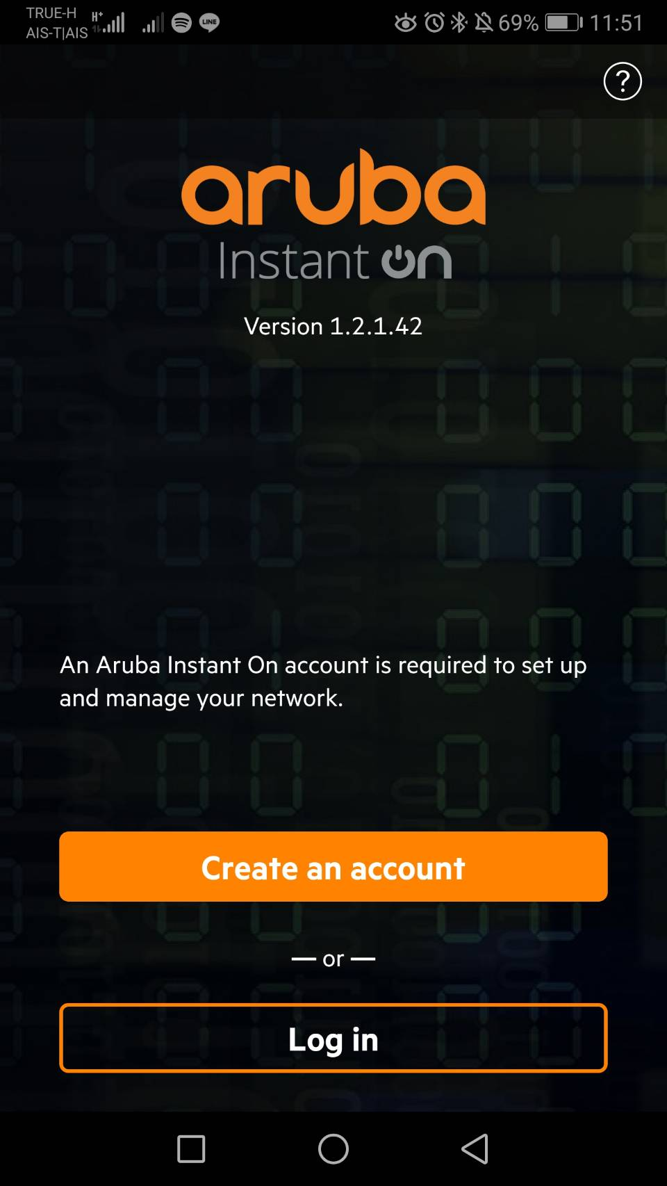 Create Account Aruba Instant On